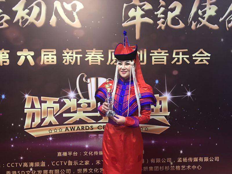 """女神格格被权威人士誉为""""中国草原甜歌皇后"""""""